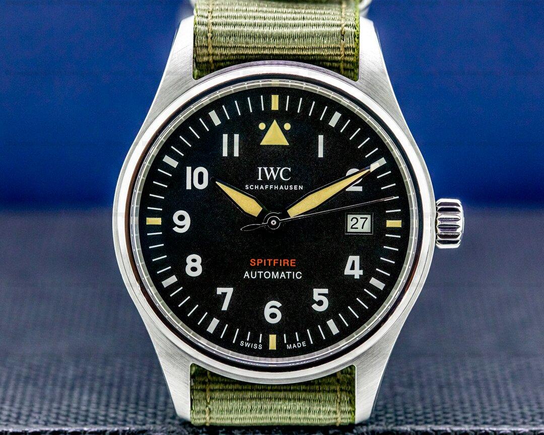 IWC Pilots Watch Automatic Spitfire SS/Textile Strap UNWORN Ref. IW326801