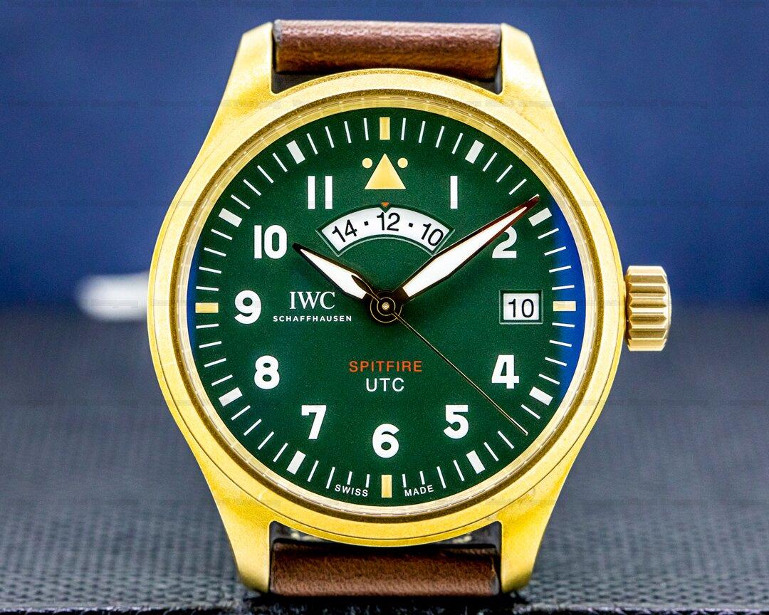 IWC Pilots Watch UTC Spitfire MJ271 Bronze Green Dial LIMITED UNWORN Ref. IW327101