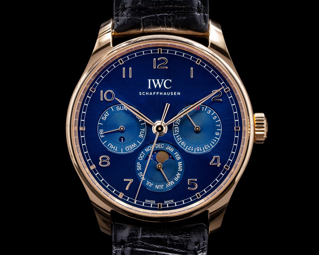 IWC Portugieser Perpetual Calendar IW344205 Boutique Blue Dial Ref. IW344205