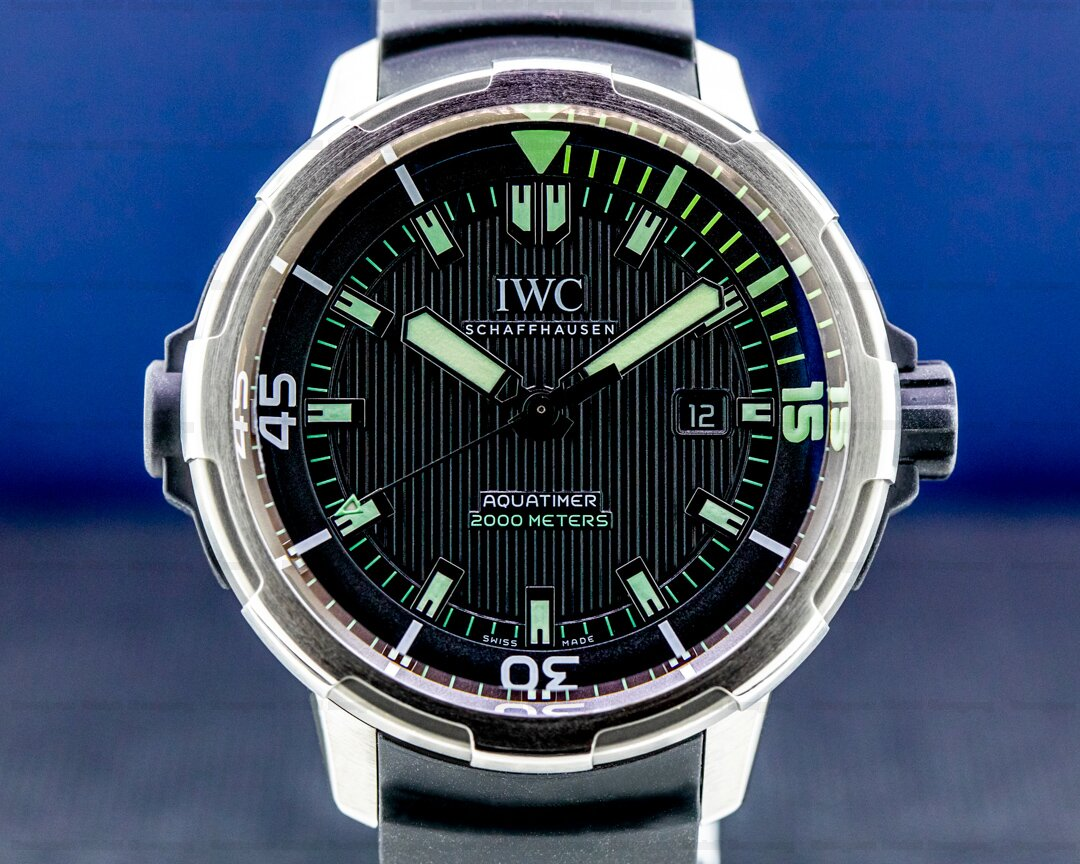 IWC Aquatimer 2000 Automatic Black Dial Titanium / rubber strap Ref. IW358002