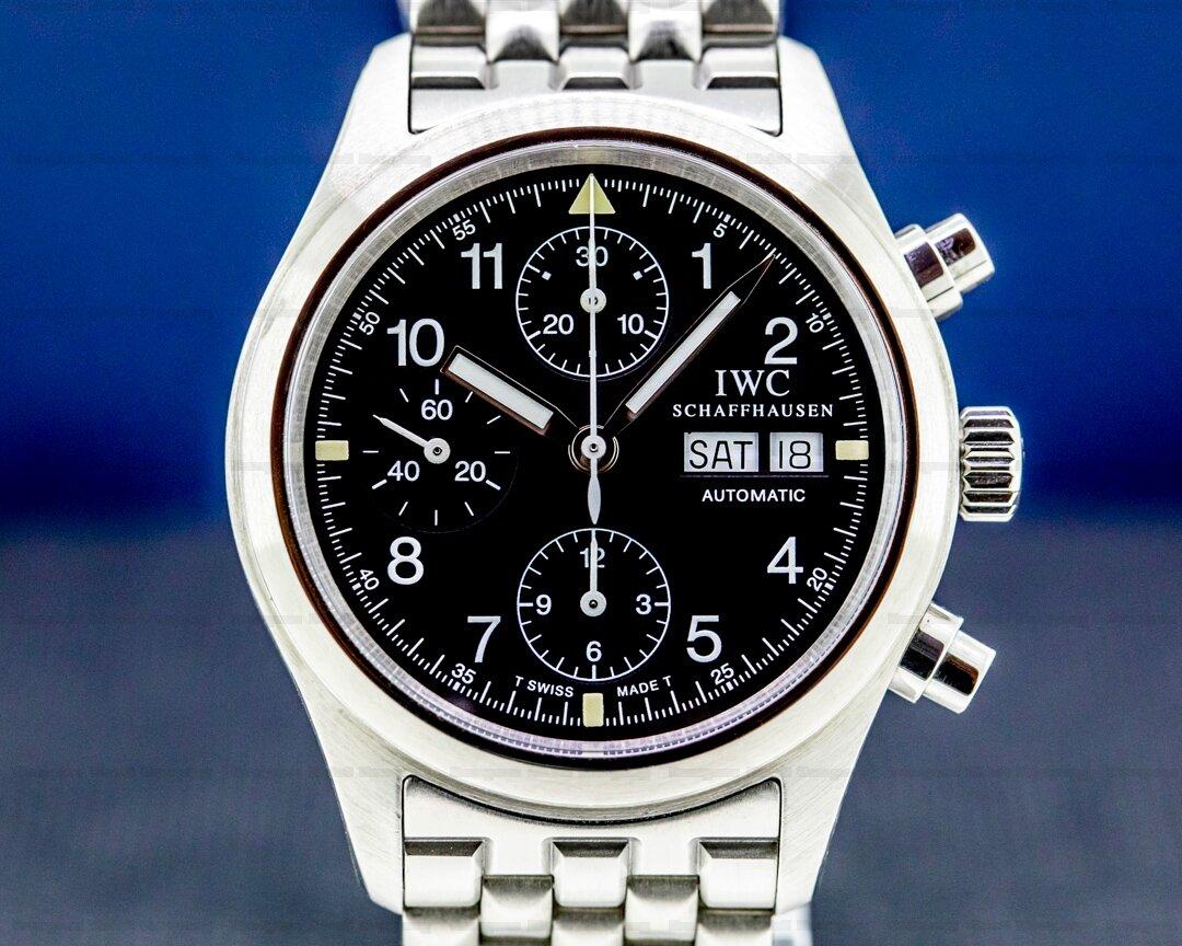 IWC Pilot Chronograph Black Dial SS / SS Ref. IW370607