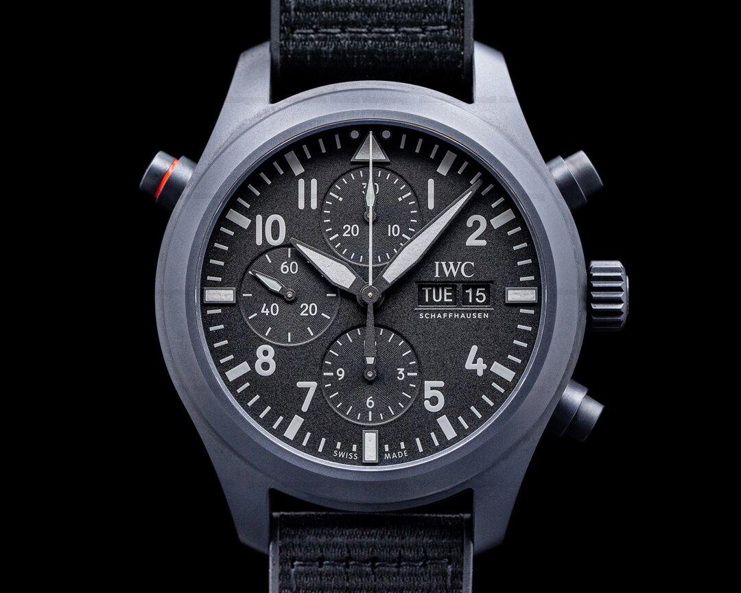 IWC Pilot Double Chronograph Top Gun Ceratanium UNWORN Ref. IW371815