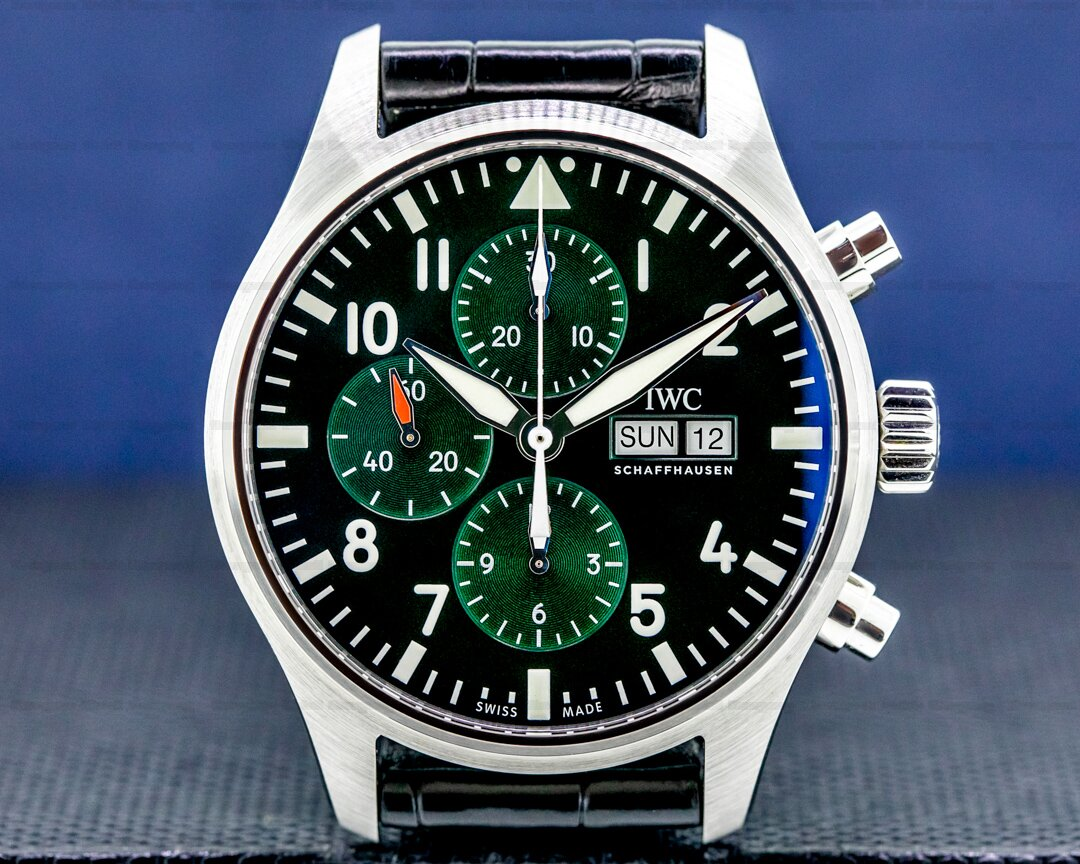 IWC Flieger Pilot Chronograph SS Green dial Limited Edition UNWORN Ref. IW377726