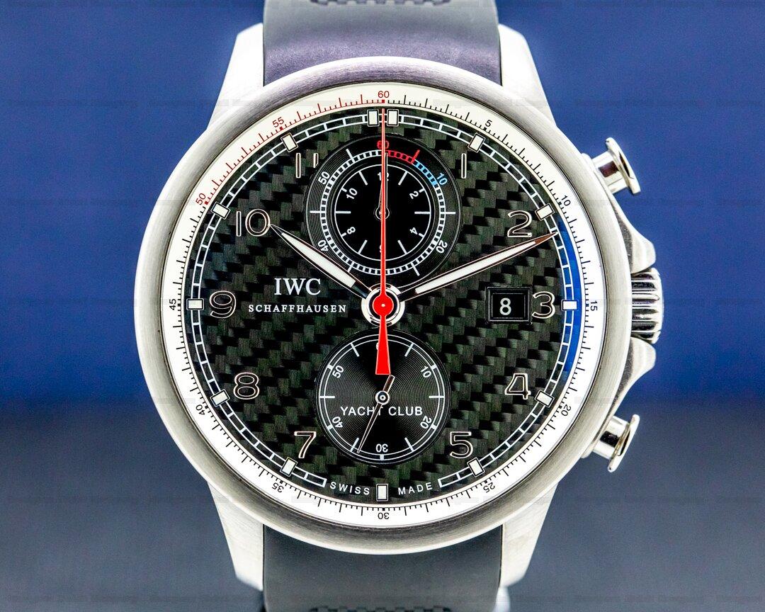 IWC IWC Portuguese Yacht Club Flyback Titanium Carbon Fiber Dial Ref. IW390212