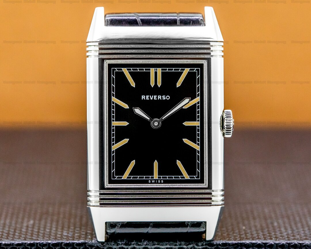 Jaeger LeCoultre Grande Reverso Tribute to 1931 Ultra Thin SS Black Dial Ref. Q2788570