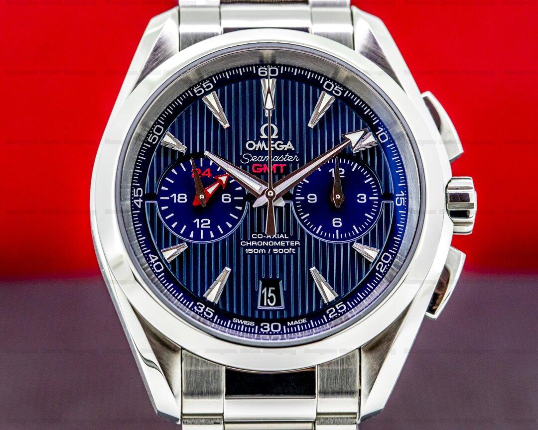 Omega Seamaster Aqua Terra GMT Chronograph SS Blue Dial Ref. 231.10.43.52.03.001