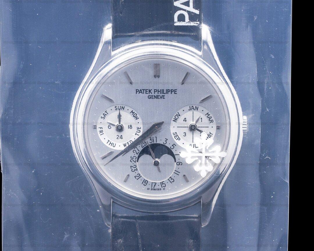 Patek Philippe Perpetual Calendar 3940P Platinum FULL SET FRESH SERVICE Ref. 3940P-011