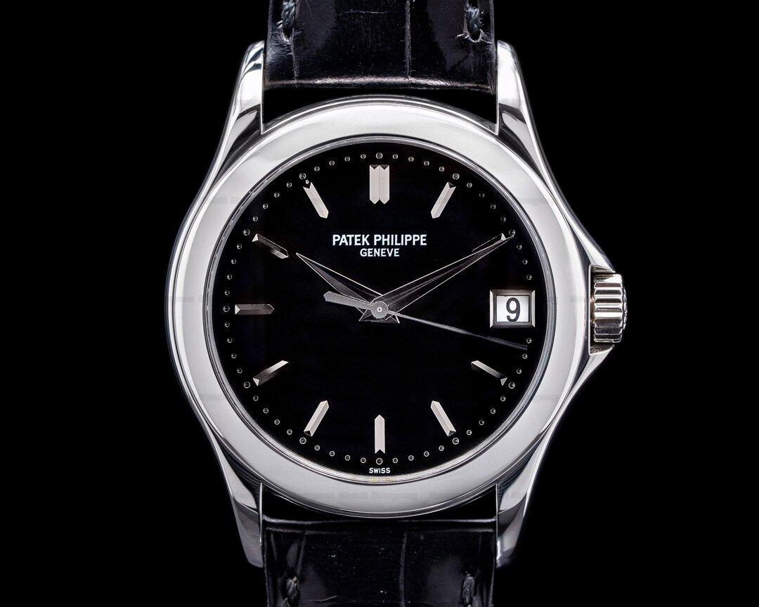 Patek Philippe Calatrava 5107P Automatic Platinum Black Dial RARE Ref. 5107P-001