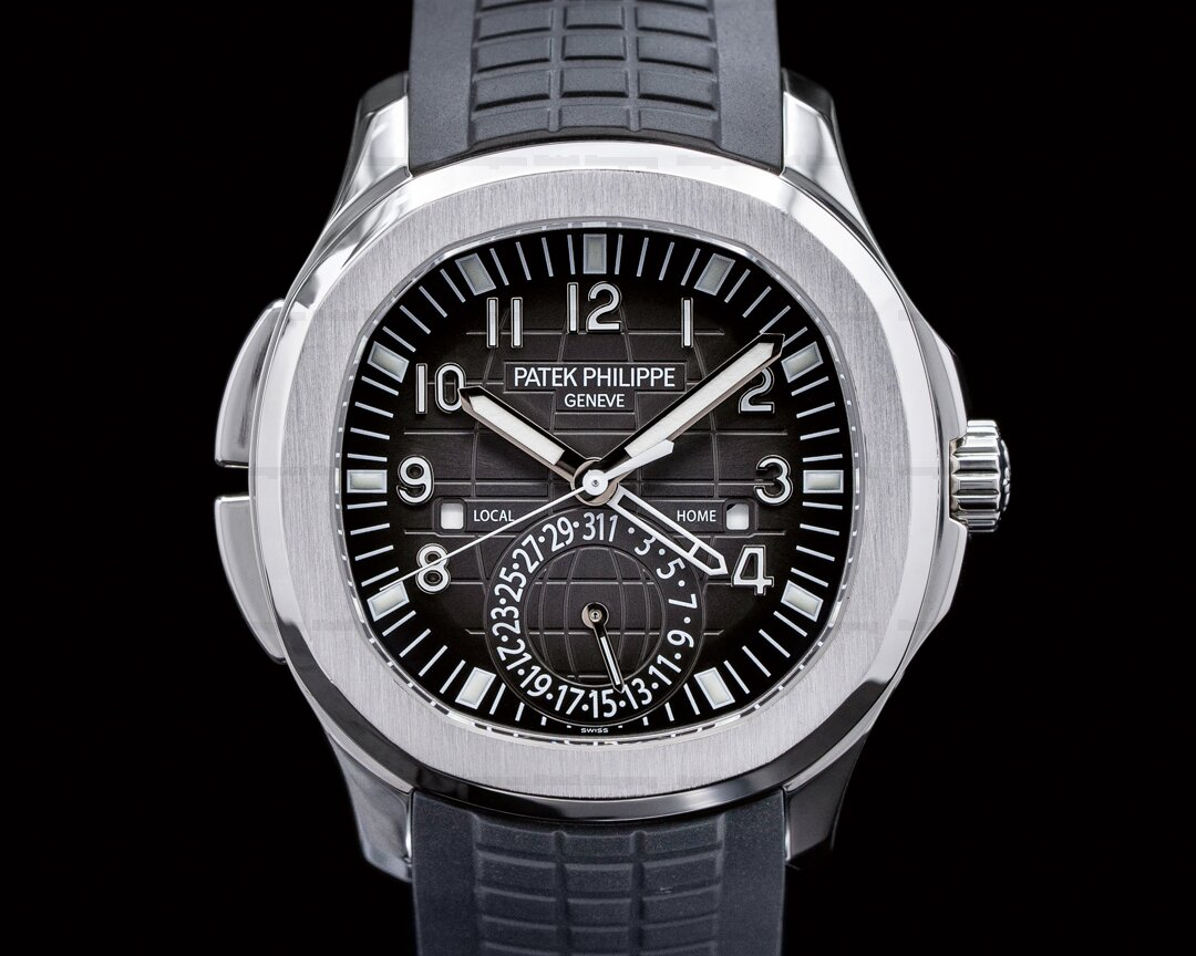 Patek Philippe Aquanaut 5164A Travel Time SS / Rubber FULL SET Ref. 5164A-001