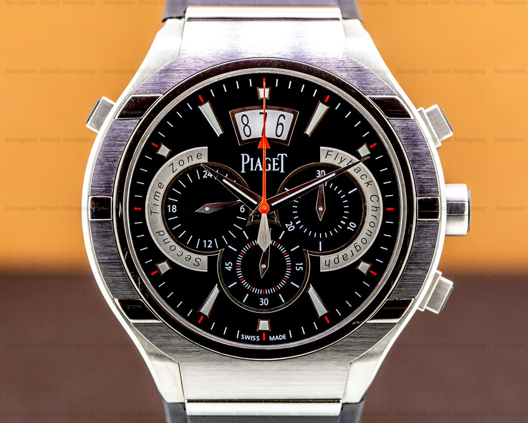Piaget Polo FortyFive FortyFive Flyback Chronograph GMT Titanium Ref. G0A34002