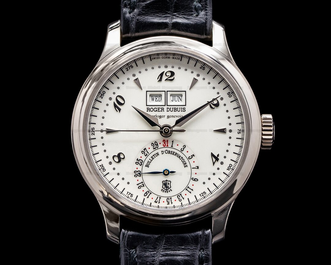 Roger Dubuis Hommage H37 Triple Date 18k White Gold Ref. H37