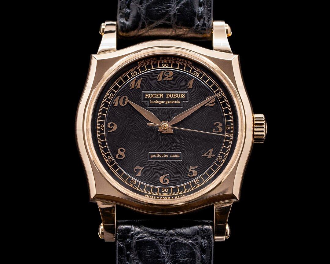 Roger Dubuis Sympathie S37 Black Guilloche 18K Rose Gold Ref. S37 57 0