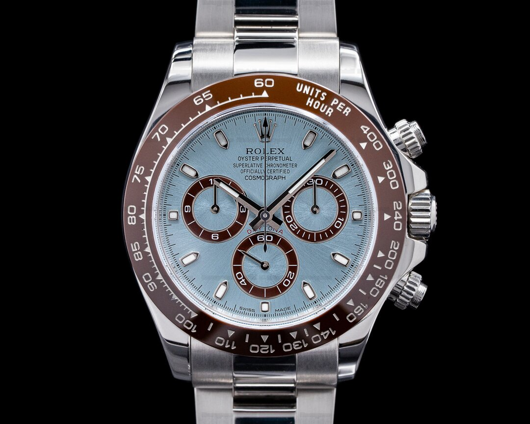 Rolex Daytona 116506 Platinum Glacier Blue / Brown Ceramic FULL SET Ref. 116506