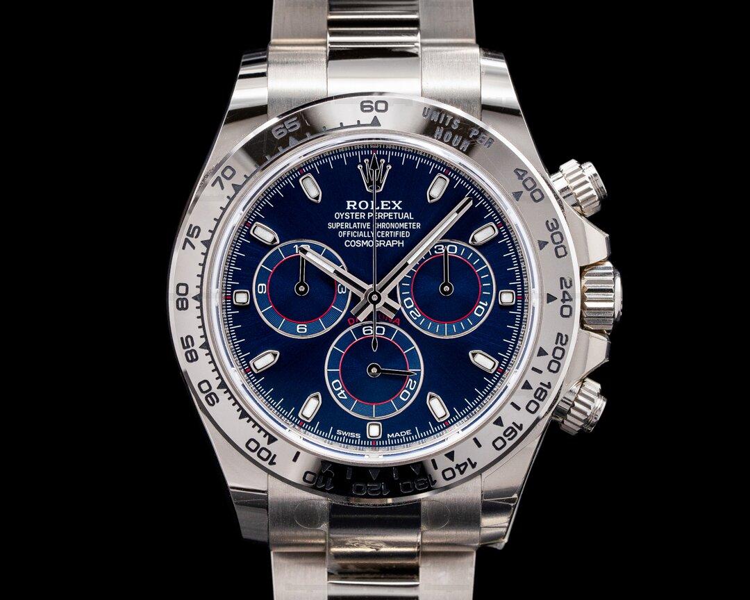 Rolex Daytona 116509 Blue Dial 18K White Gold 2019 Ref. 116509