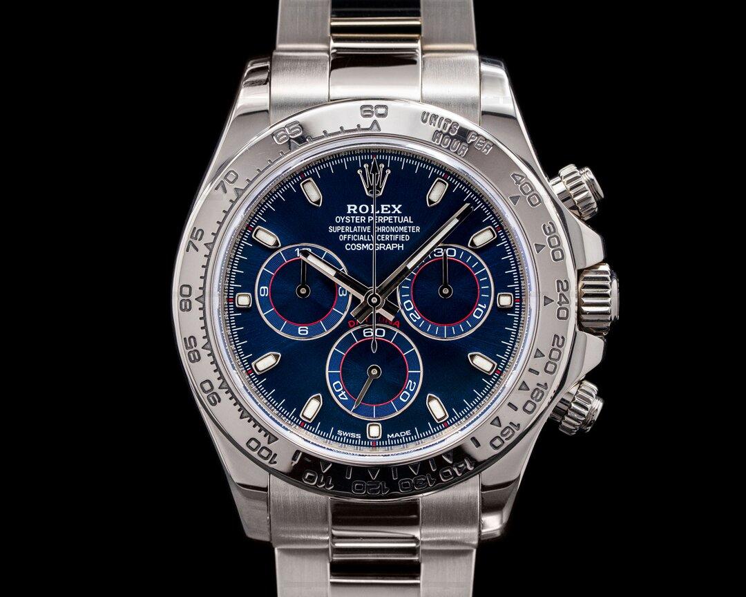 Rolex Daytona 116509 Blue Dial 18K White Gold Ref. 116509