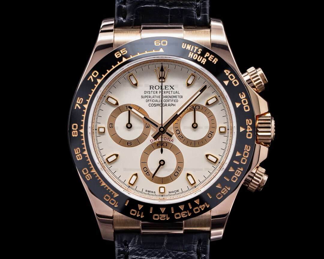 Rolex Cosmograph Daytona 116515LN 18K Rose Gold Ivory Dial / Alligator Ref. 116515LN