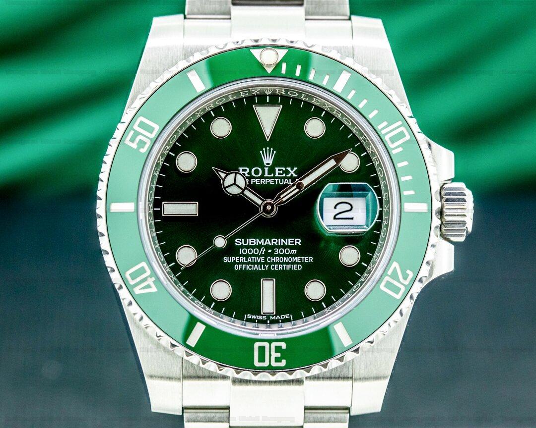 Rolex Submariner 116610LV HULK Green Ceramic Bezel Green Dial SS Ref. 116610LV