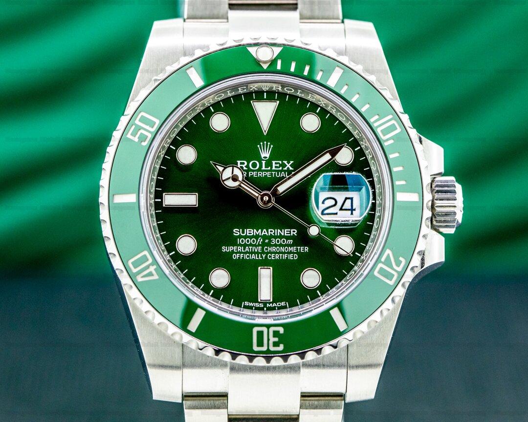 Rolex Submariner 116610LV HULK Green Ceramic Bezel Green Dial SS UNWORN Ref. 116610LV