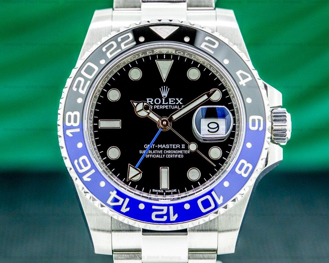 Rolex GMT Master II 116710 Ceramic Batman SS Oyster Bracelet Ref. 116710BLNR
