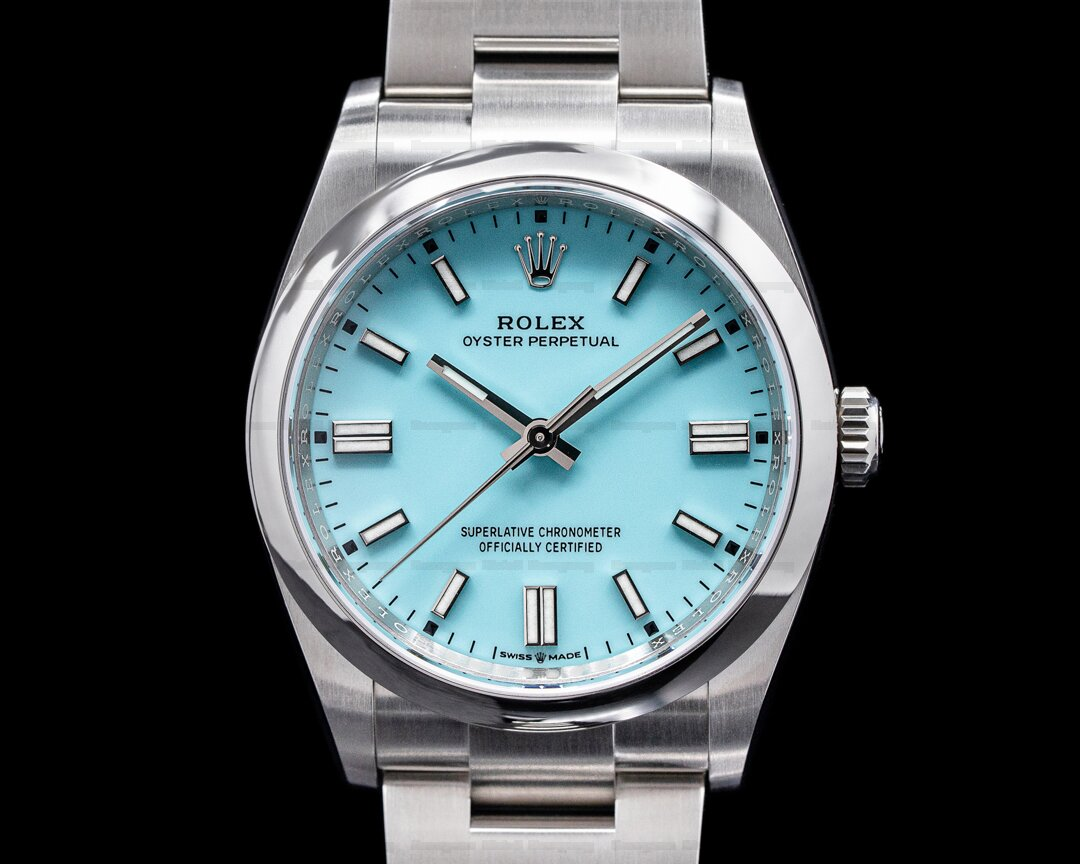 Rolex Oyster Perpetual 126000 36MM SS TURQUOISE BLUE UNWORN Ref. 126000