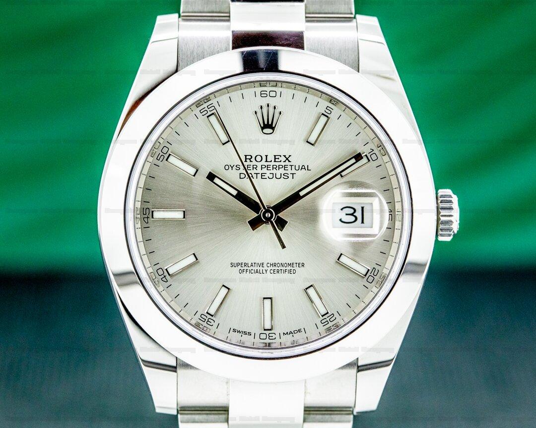 Rolex Datejust 41 126300 Silver Stick Dial SS Ref. 126300