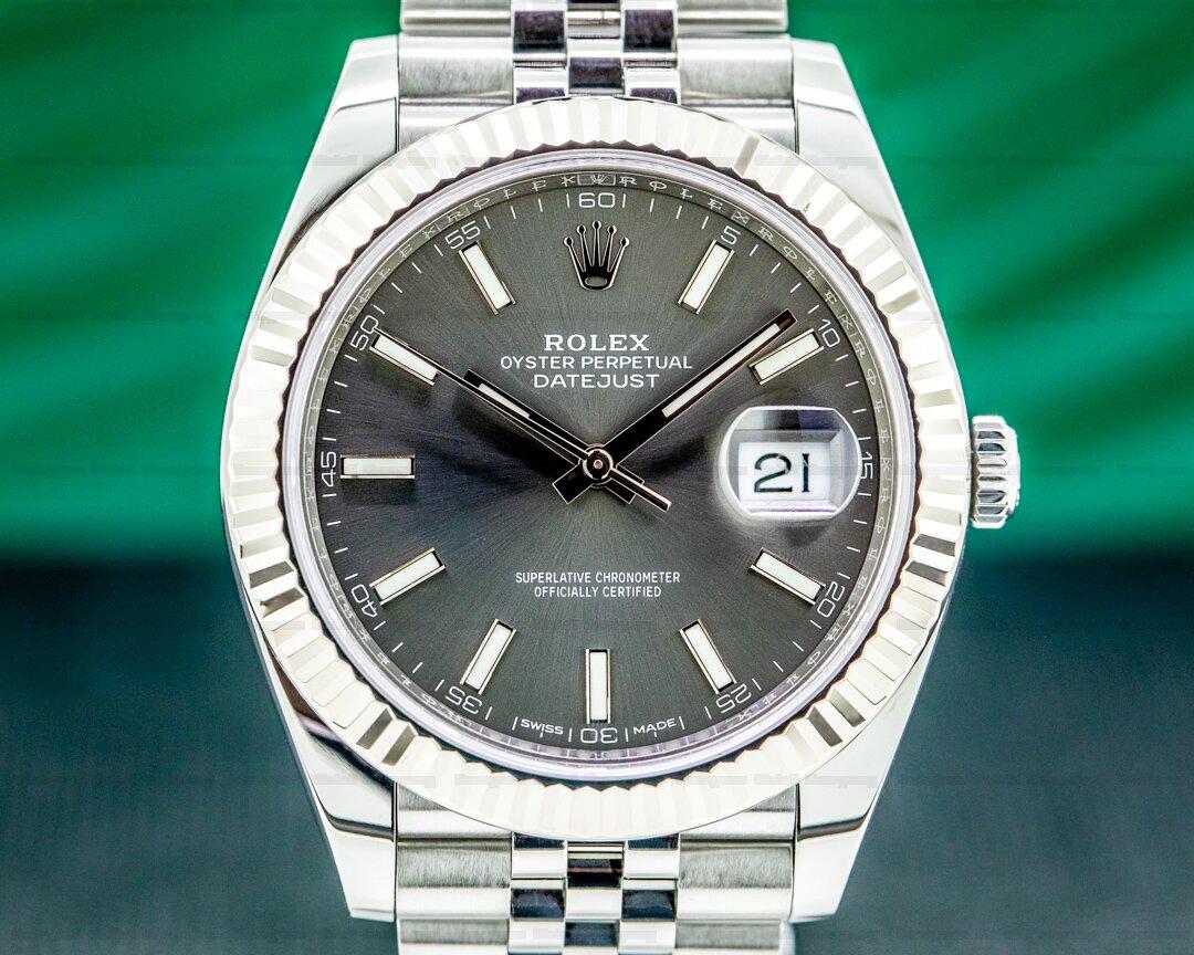 Rolex Datejust 41 Rhodium Stick Dial SS / Jubilee Ref. 126334