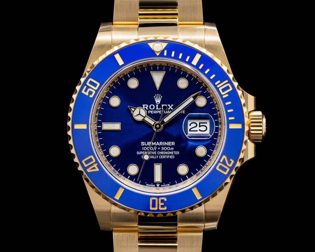 Rolex Submariner 126618 18K Yellow Gold Blue Dial UNWORN 2021 Ref. 126618LB