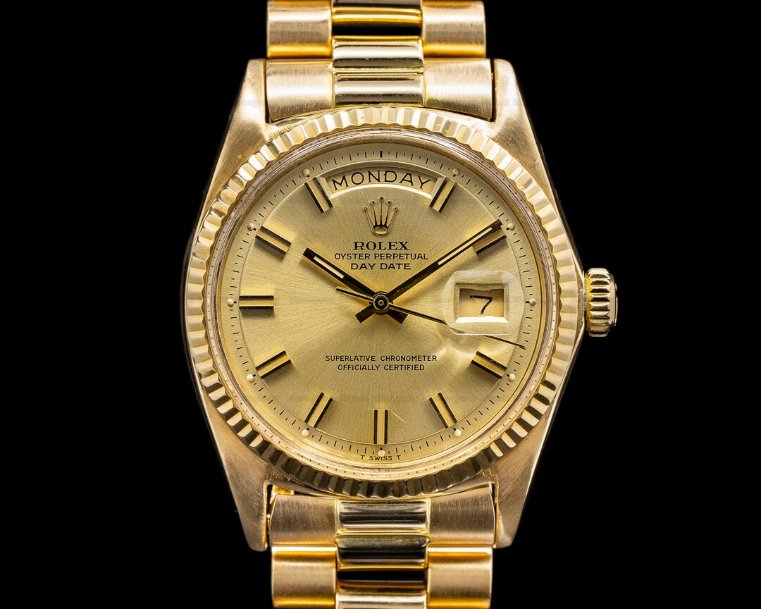Rolex Oyster 1803 Perpetual Day Date 18K Yellow Gold Ref. 1803
