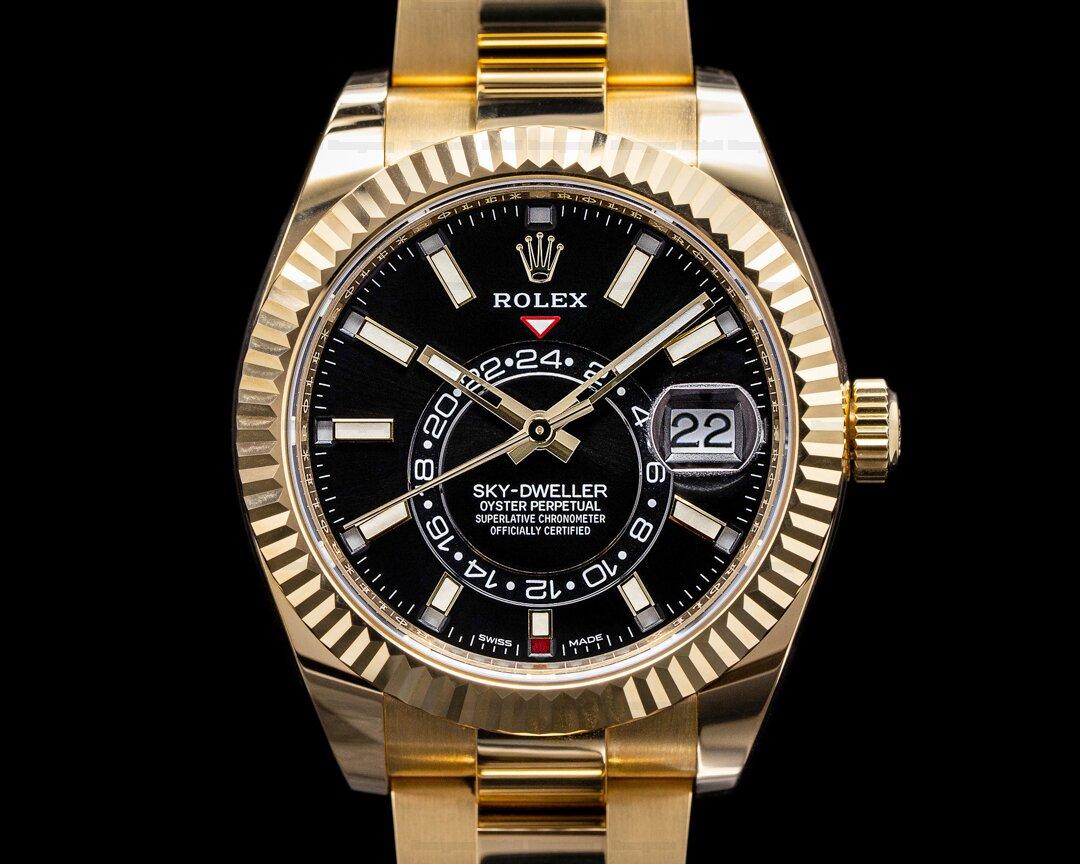 Rolex Sky Dweller 18K Yellow Gold / Black Dial 2021 Ref. 326938