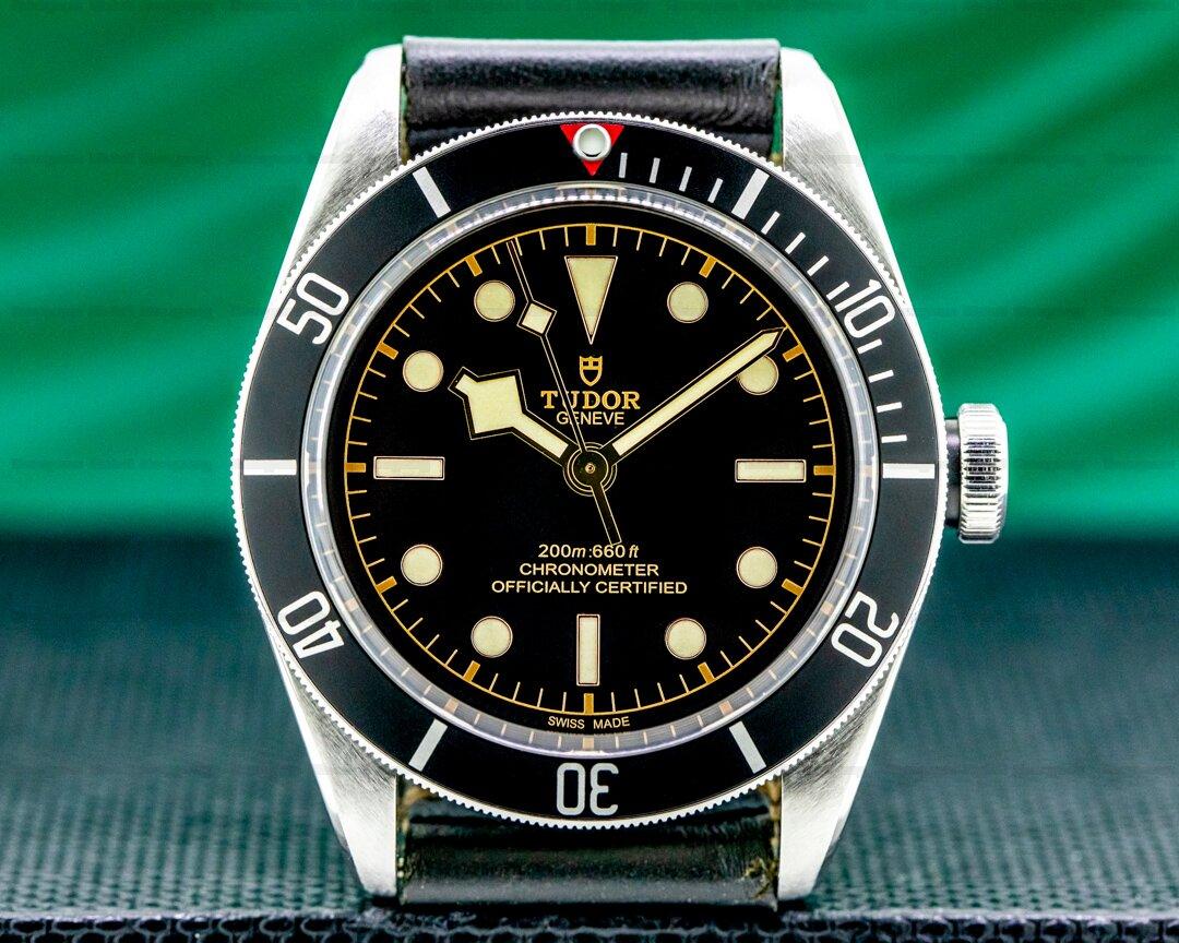 Tudor Tudor Heritage Black Bay BLACK SS / Leather Ref. 79230N