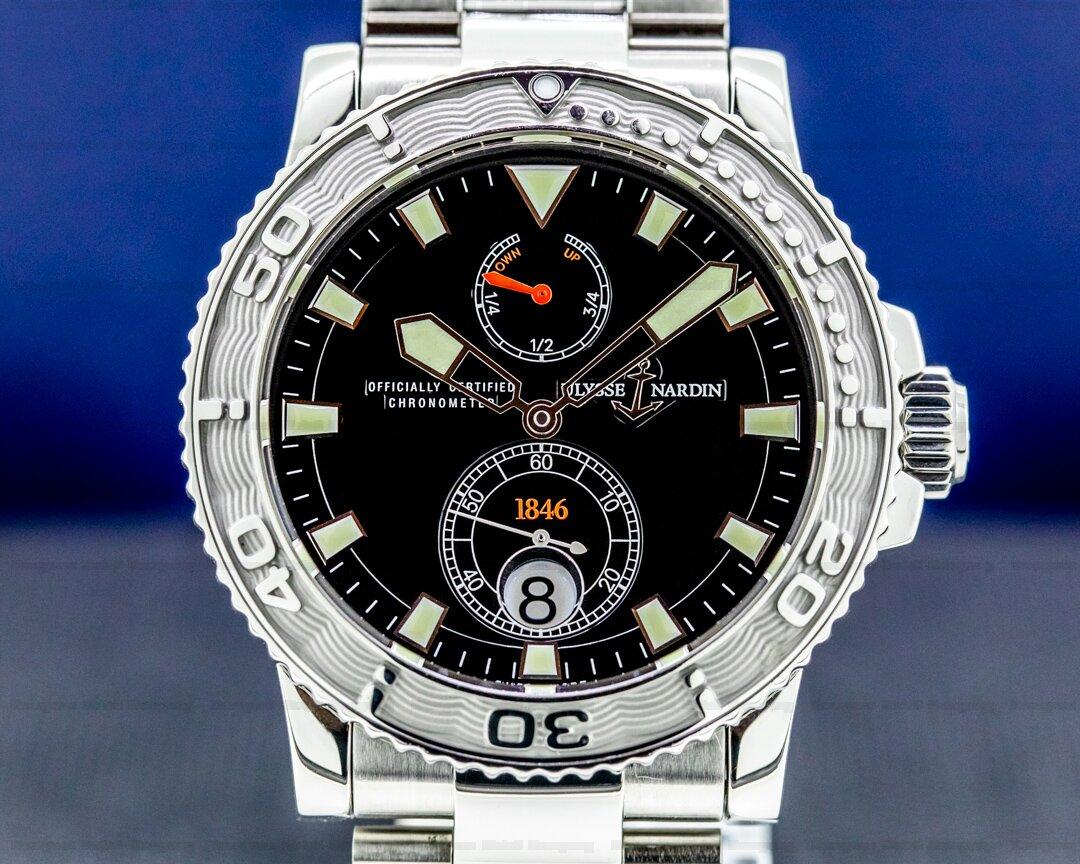 Ulysse Nardin 263-33-7 Maxi Marine 1846 Diver Black Dial SS Ref. 263-33