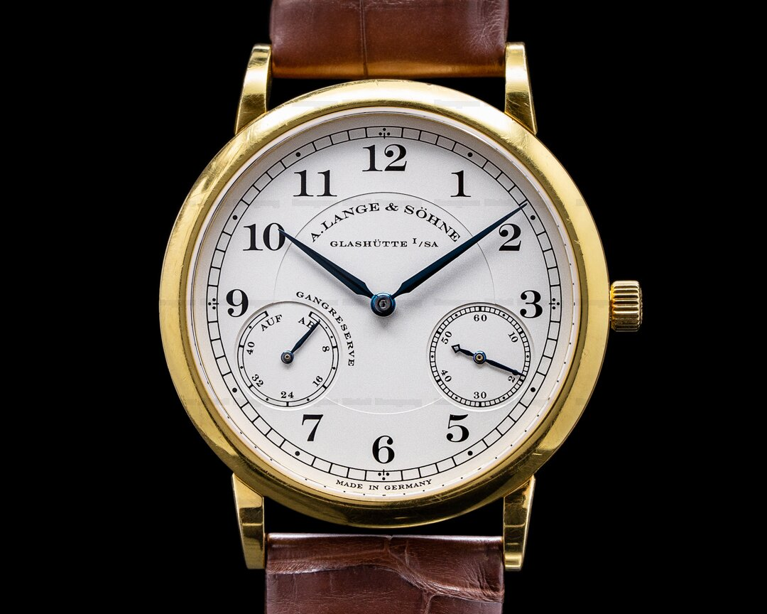 A. Lange and Sohne 1815 Up & Down 221.021 18K Yellow Gold Ref. 221.021