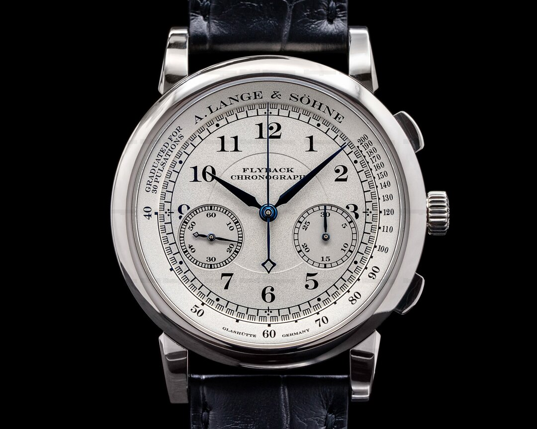 A. Lange and Sohne 1815 Flyback Chronograph 401.026 Silver Dial 18K White Gold Ref. 401.026