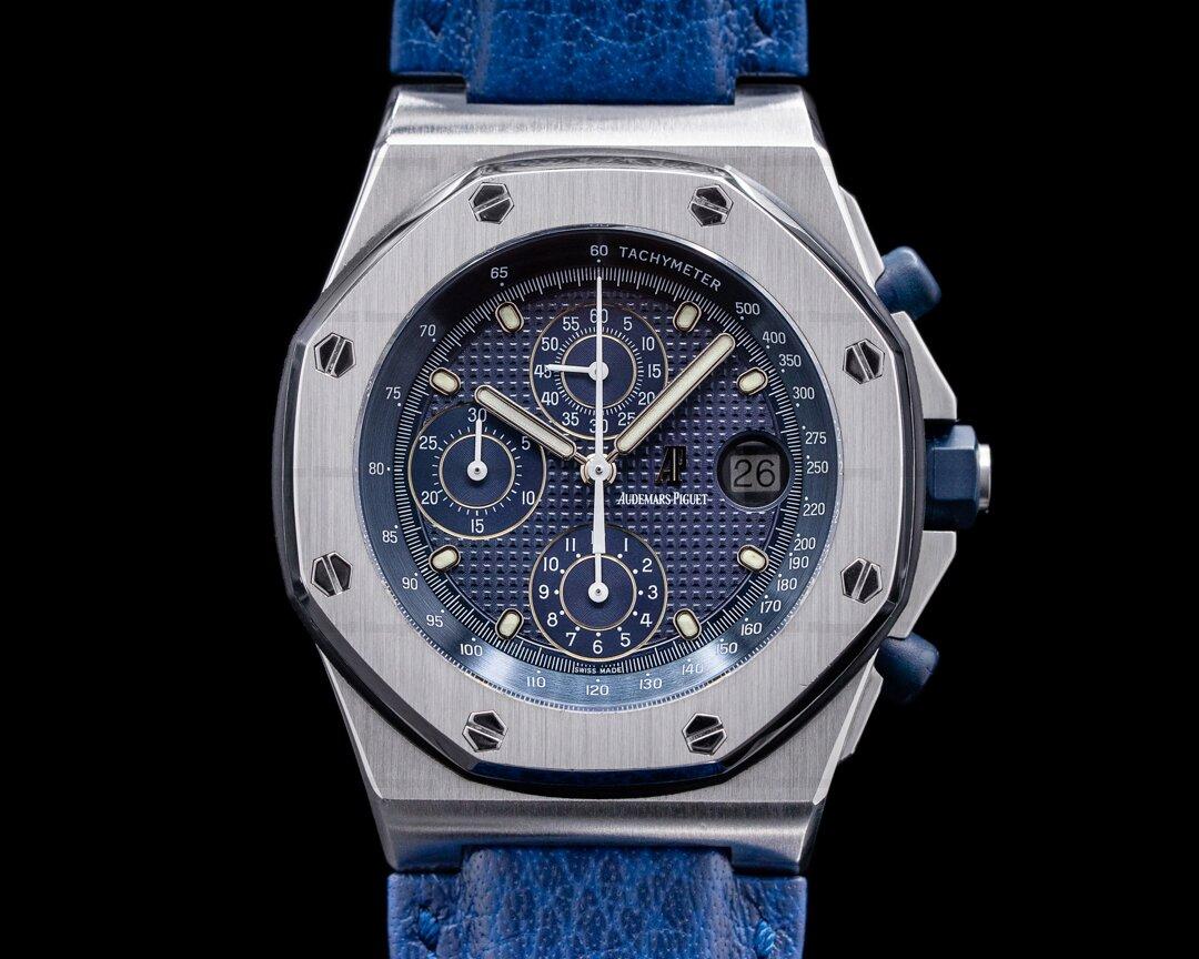 Audemars Piguet Royal Oak 25770ST Offshore Blue Dial SS Ref. 25770ST.O.0009.01