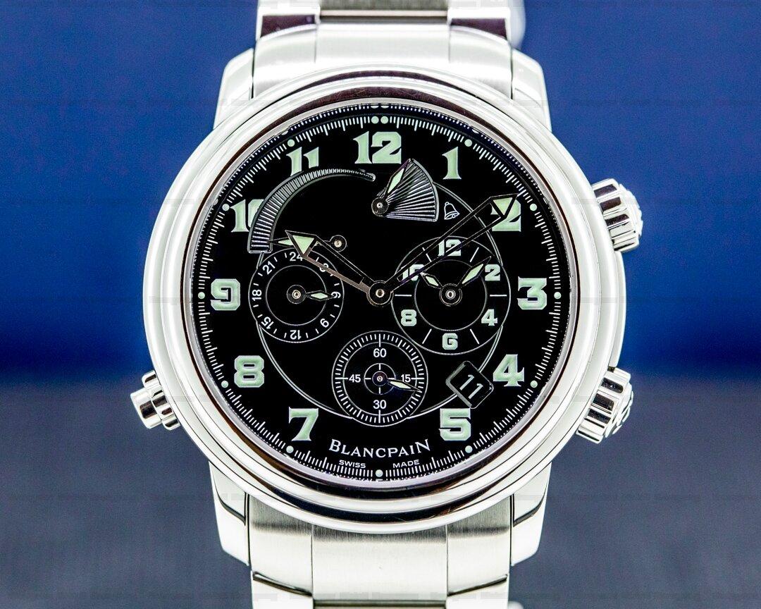 Blancpain Reveil GMT Alarm 2041 SS Black Dial 41MM SS Bracelet Ref. 2041-1130M-53B