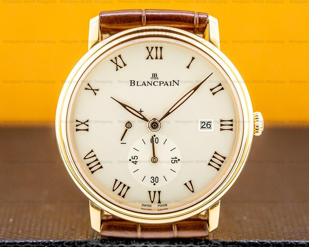 Blancpain Villeret Small Seconds Power Reserve 18k RG Manual Wind 40MM UNWORN Ref. 6606-3642-55B