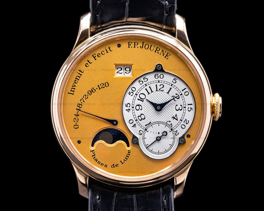 F. P. Journe Octa Lune Automatic 18k Rose Gold / Gold Dial 38MM FACTORY SERVICE Ref. Octa Lune