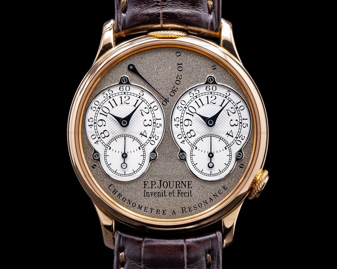 F. P. Journe Chronometre Resonance 18k Rose 38MM BRASS MOVEMENT 2002 FULL SET Ref. Resonance Brass