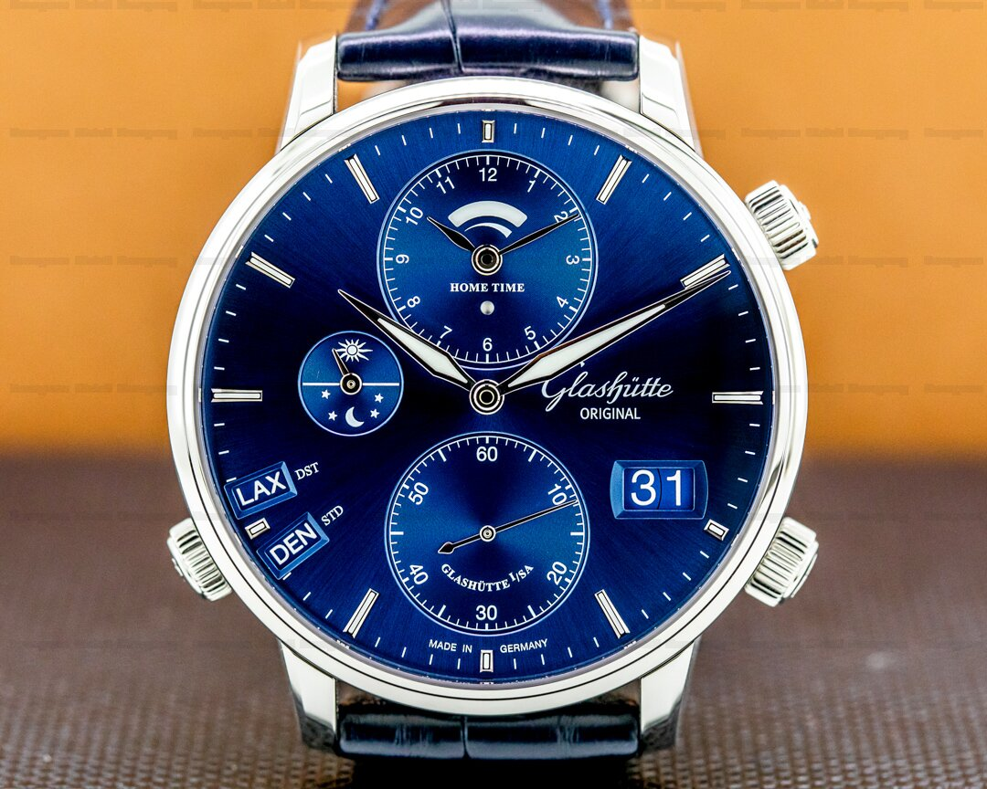 Glashutte Original Senator Cosmopolite SS Blue Dial 2021 Ref. 1-89-02-05-02-30