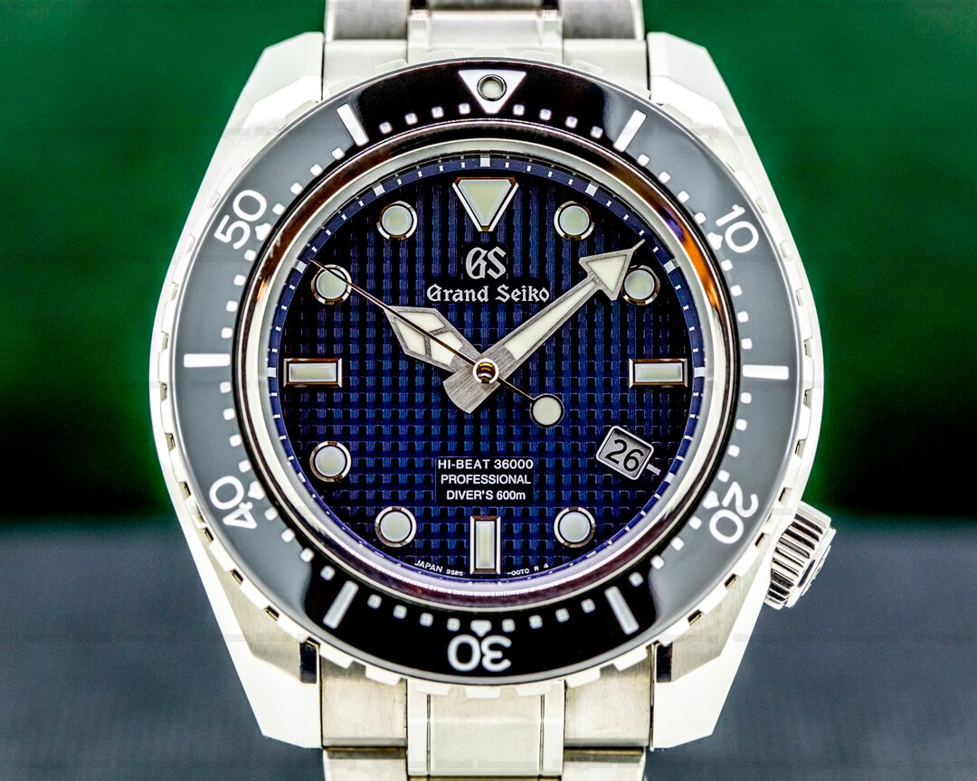 Grand Seiko Hi-Beat 36000 Professional 600M Divers Titanium Blue Dial Limited Ref. SBGH257