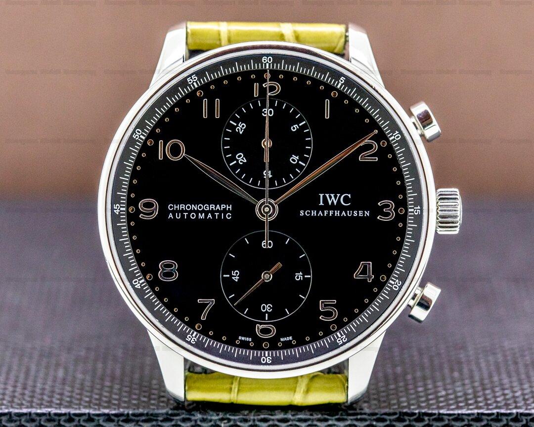 IWC Portugieser Chronograph SS Black Dial Ref. IW371609