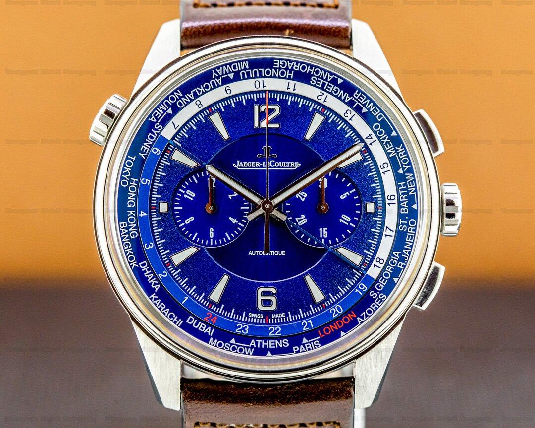 Jaeger LeCoultre Polaris Chronograph WT Titanium Blue Dial Ref. 905T480