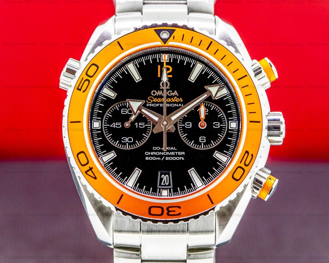 Omega Planet Ocean Co-Axial Chronograph SS Orange Bezel Ref. 232.30.46.51.01.002