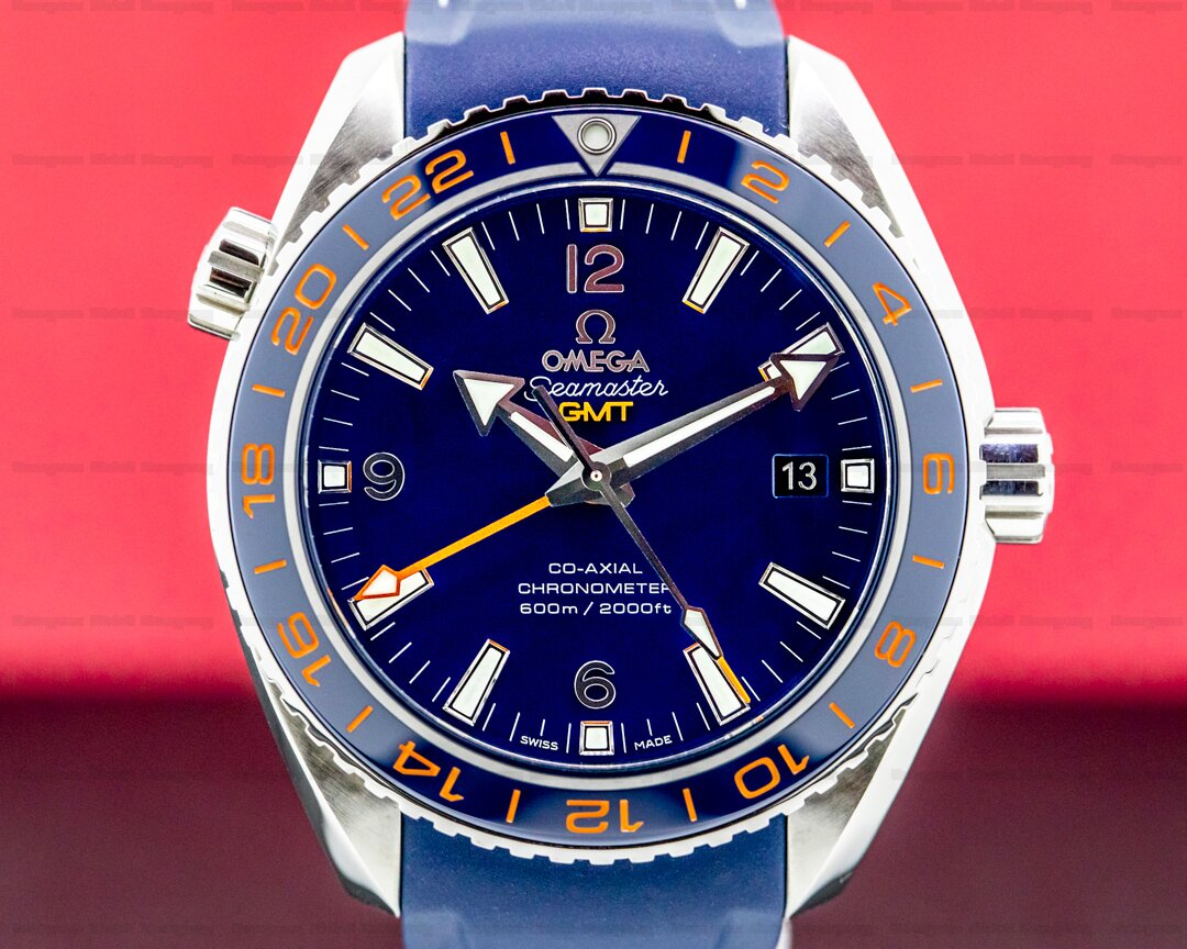 Omega Seamaster Planet Ocean Good Planet GMT 600M Co-Axial Blue Dial Ref. 232.32.44.22.03.001