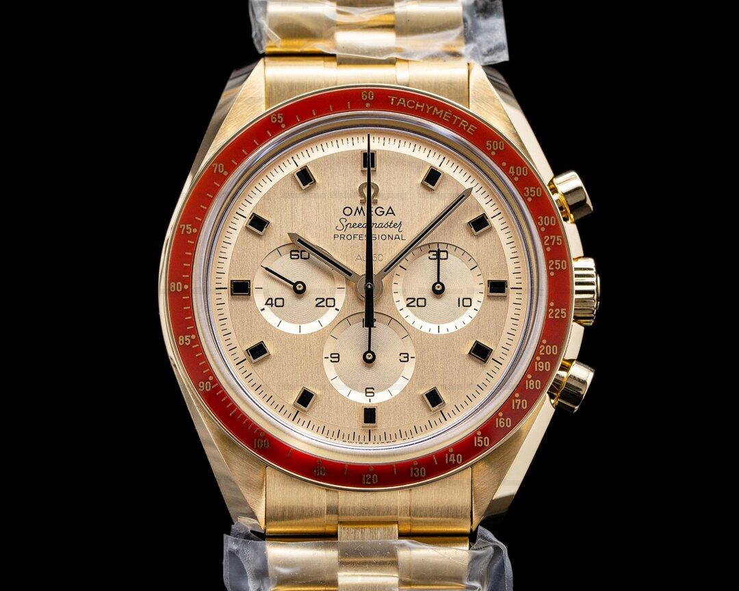 Omega Apollo XI 50th Anniversary Speedmaster 18K Yellow Gold UNWORN Ref. 310.60.42.50.99.001