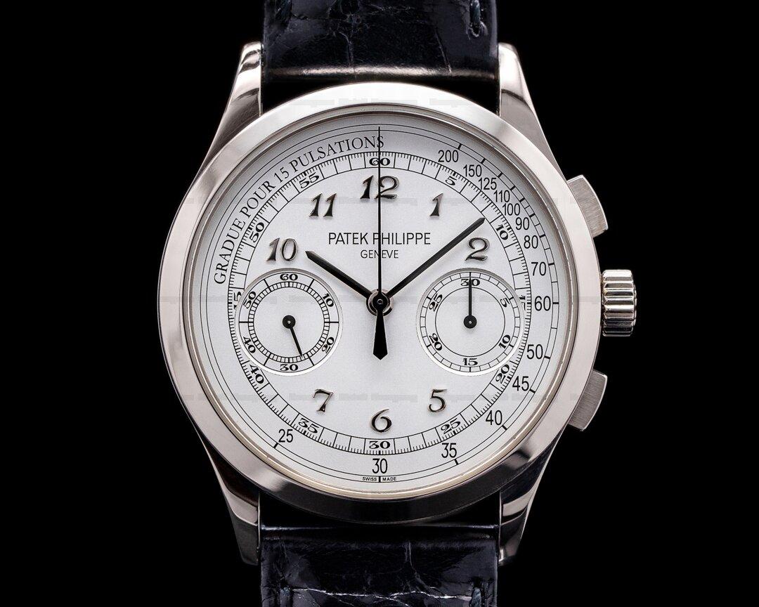 Patek Philippe Chronograph 5170G 18K White Gold / Silver Pulsation Ref. 5170G-001
