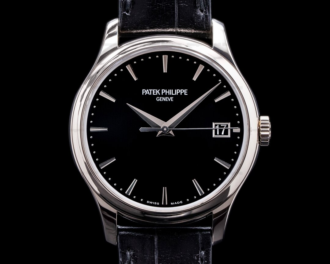 Patek Philippe Calatrava 5227G Automatic 18K White Gold Black Dial Ref. 5227G-010