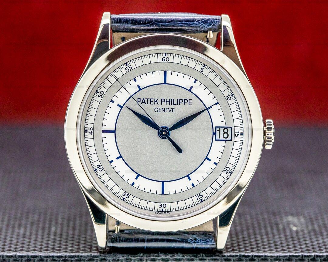 Patek Philippe Calatrava 18K 5296G White Gold Sector Dial Ref. 5296G-001