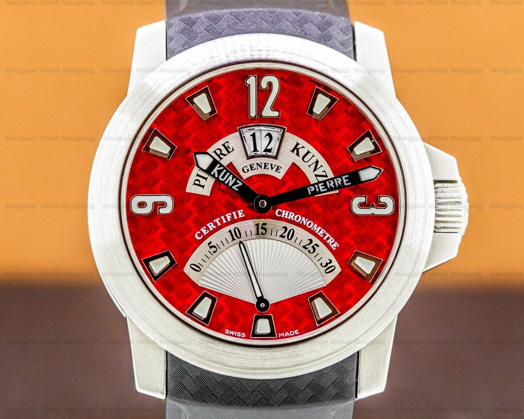 Pierre Kunz Retrograde Grande Date Red Dial 43mm / SS Ref. G016