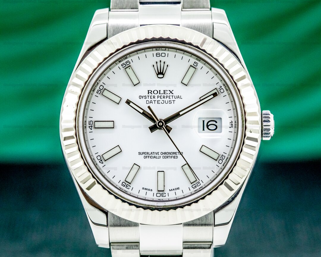 Rolex Datejust II White Stick Dial SS 2016 Ref. 116334